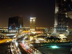 View from Downtown Dubai at Night