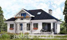 150-008-R Projekt domu dwukondygnacyjnego pięterko mansardowe, ekonomiczny domek wiejski z bloków pianobetonowych, Radom