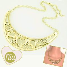 Collar de corazones, encuentra esto y mucho más en:  www.niuenlinea.co Gold Necklace, Jewelry, Fashion, Heart Necklaces, Hearts, Accessories, Moda, Gold Pendant Necklace, Jewlery