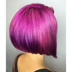 Short Purple Bob Hair