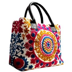 Suzani handbags Indian traditional embroidery for the latest style and statement http://radhikatextile.com/ladies-section/hfl-girls/suzani-ladies-handbags.html