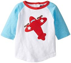 Mud Pie Baby Boys Airplane Shirt Red Small18 Months * To view further for this item, visit the image link. (This is an affiliate link) #BabyBoyTops
