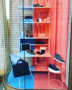 "JIMMY CHOO, London, UK, ""If you're feeling blue... Try painting it a different color"", photo by Window Shoppings, pinned by Ton van der Veer"