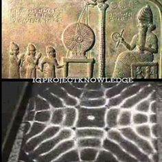 """The Sumarian tablet depicting the """"Black Sun"""" & a cymaglyph. Aliens And Ufos, Ancient Aliens, Ancient Egypt, Ancient History, Ancient Mysteries, Ancient Artifacts, Ancient Civilizations, Sacred Geometry, Graham Hancock"""