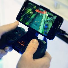 MOGA Pro Gaming Controller For Android / The MOGA Pro Gaming Controller is a Bluetooth-enabled wireless console-style controller that works with all your Android powered smartphones and tablets. http://thegadgetflow.com/portfolio/moga-pro-gaming-controller-for-android/