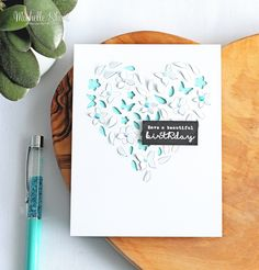 Hello there, today I have a card to share using the beautiful Paper Layering Floral Heart with Frame die from Hero Arts. It was released as...