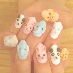 Tumblr Nail Art, 3d Nail Art, Art 3d, Gel Nails, Nail Polish, Korean Nails, Japanese Nail Art, Short Nails, Cute Nails