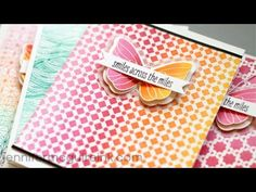 """New Hero Arts Ombre ink pads demonstration by Jennifer McGuire """"Ombre Backgrounds"""" - YouTube"""