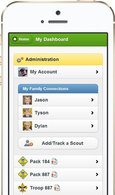 Cub Scout and BSA Boy Scout Advancement Tracking Software for Scouts, Families, Dens and Patrols