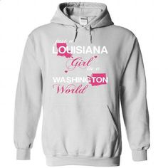 (LAJustHong001) Just A Louisiana Girl In A Washington W - #sweatshirts for women #long hoodie. GET YOURS => https://www.sunfrog.com/Valentines/-28LAJustHong001-29-Just-A-Louisiana-Girl-In-A-Washington-World-White-Hoodie.html?60505