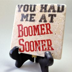 University of Oklahoma Boomer Sooner coaster $9