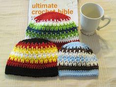 Spike Stitch Beanie / Crochet Hat /  7 by 3BoysAndABallOfYarn, $3.99