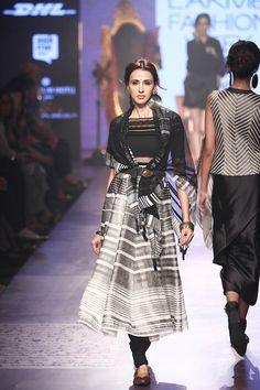 The top in the background Tarun Tahiliani. LFW W/F 15'. Indian Couture.