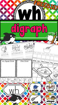 FREEBIE ~ This WH digraph resource is sure to be a hit in your classroom.