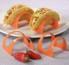 Taco Stands @ Harriet Carter, finally the taco's will stay upright on your plate...