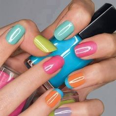 multicolored nails #colors #nails