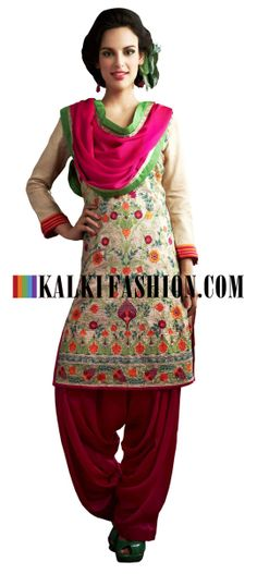 Buy Online from the link below. We ship worldwide (Free Shipping over US$100) http://www.kalkifashion.com/unstitched-suit-in-tussar.html Unstitched suit in tussar