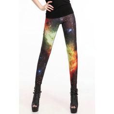 Multi Galaxy Print Elastic Waist Skinny Leggings ($17) ❤ liked on Polyvore featuring pants, leggings, bottoms, multi, galactic leggings, white legging pants, skinny leggings, skinny trousers and galaxy print leggings