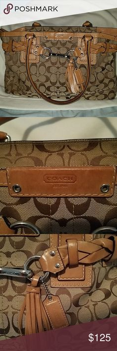 Authentic Coach Bag! Shades of brown , one large pocket inside Coach Bags