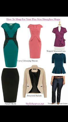How to dress the hour glass figure!