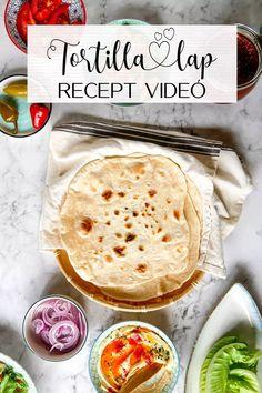 Puha tortilla lap recept   Annuskám receptek videóval Hummus, Ethnic Recipes, Food, Essen, Meals, Yemek, Eten