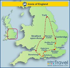 Self Drive Tour of England Icons of England A round-trip tour taking in all the essential must-see sites in England - for those on a time-budget.