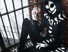 Creepypasta Cafe 014 by Alloween on DeviantArt Creepypasta Proxy, Creepypasta Cute, Jeff The Killer, Creepy Art, Scary, Arte Emo, Creepy Pasta Family, Eyeless Jack, Ben Drowned
