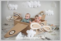 DIY Cardboard Box Airplane!!