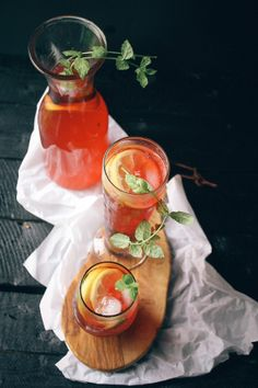 Loaded Hibiscus Arnold Palmers | Vegetarian Ventures