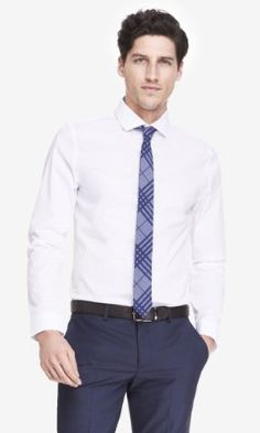 fitted 1MX cutaway collar shirt from EXPRESS