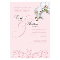 Classic Orchid Invitation Plum (Pack of 1)