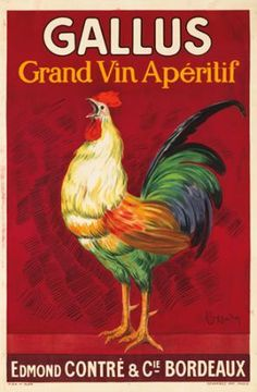 ¤ Gallus, grand vin apéritif. 1919 LEONETTO CAPPIELLO (1875-1942). Edmond Contré & Cie à Bordeaux.