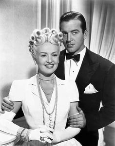 """Betty Grable and John Payne publicity photo for the 1945 movie """"The Dolly Sisters Hollywood Icons, Old Hollywood Glamour, Golden Age Of Hollywood, Vintage Hollywood, Hollywood Stars, Classic Hollywood, Hollywood Jewelry, Classic Movie Stars, Classic Movies"""