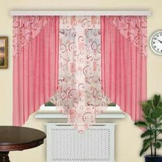 Curtains And Draperies, Window Drapes, Modern Curtains, Curtain Styles, Curtain Designs, Vintage Kitchen Curtains, Valance Window Treatments, Table Covers, Interior