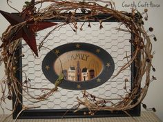 primitive+country+decorating+ideas | Primitive Upcycled Picture Frame~ Country Craft ... | Wall Decor Ideas Beautiful...gotta have it!!