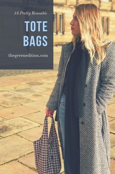 Question: How sustainable are reusable tote bags? Answer: It depends on how you use them. Choose the one you love and make it last! Find Designs You Love To Ensure You Reuse Them Again And Again. My Top 18 Are At The End Of The Post! Slow Fashion, Ethical Fashion, Fashion Brands, Sustainable Fashion, Sustainable Living, Sustainable Style, Unique Purses, Fashion Articles, Old T Shirts