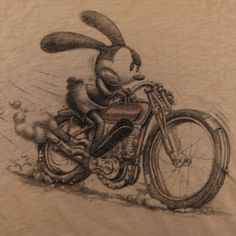 DISNEY OSWALD THE LUCKY RABBIT MICKEY MOUSE LUCKY BRAND MOTORCYCLE T SHIRT XL #LuckyBrand #GraphicTee