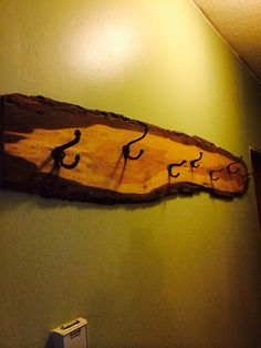 Keeping with the rustic theme.a new coat rack with vintage hooks. Vintage Hooks, Rustic Theme, Antique Items, Beams, Projects To Try, Decorating, Antiques, Coat, Painting