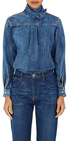 denim Chloé denim shirt Article Physique: Workplace furnishings – the time period normally conjures Blouse En Jean, Denim Blouse, Jacket Outfit, Denim Outfit, Double Denim, Jean Diy, Denim On Denim, Denim Shirts, Dope Shirt
