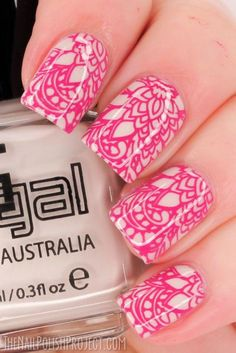 Fashionable Lace Nail Art Designs, http://hative.com/fashionable-lace-nail-art-designs/,: