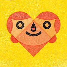 Alexei Vella Illustration: Heart-Face Greetings