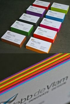 Colored Business Cards -