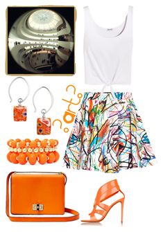 """""""Visit to an Art Museum"""" by ubiquitous-merkaba ❤ liked on Polyvore featuring Jeremy Scott, Splendid, Nicholas Kirkwood, Mixit, Jody Coyote and Diane Von Furstenberg"""