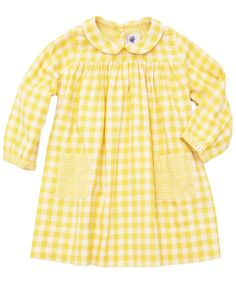 Baby Yellow Checked Dress, Petit Bateau. Shop more dresses from the latest Petit Bateau collection online at Liberty.co.uk