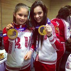 Yulia Lipnitskaya and Adelina Sotnikova