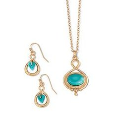 Serene Blue Necklace and Earring Gift Set