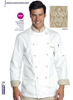 € 39,00 - Chaqueta Chef Blanca Maori 59295 ISACCO Chef Shirts, Hotel Uniform, Restaurant Uniforms, Scrubs Uniform, Cool Outfits, Fashion Outfits, Work Wear, Chef Jackets, Coat