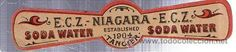 ETIQUETA DE AGUA. E.C. Z. NIAGARA. TANGER. 1904.