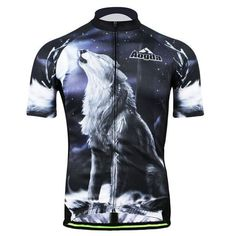 AOGDA Skull/Pirate/Wolf Head/Wolf Howl/Color Tree Short Sleeve Cycling Jersey