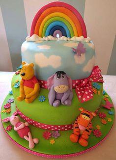 winnie the pooh rainbow cake